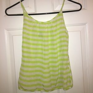 JUICY COUTURE: Green & White Silk Camisole top