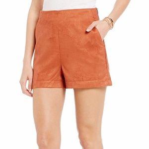 NWT Sanctuary 'Marni' Faux Suede Copper Shorts