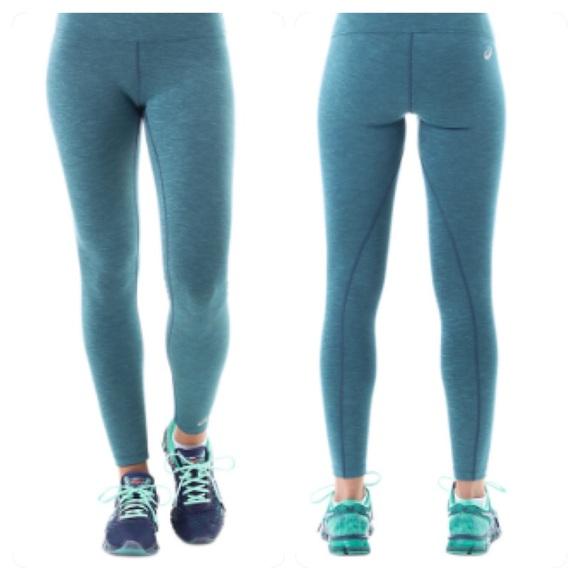 15f4b87b2930 Asics Pants - Asics Running Tights Leggings Yoga Pants Green Med