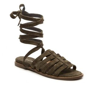 Report Olive suede sandals