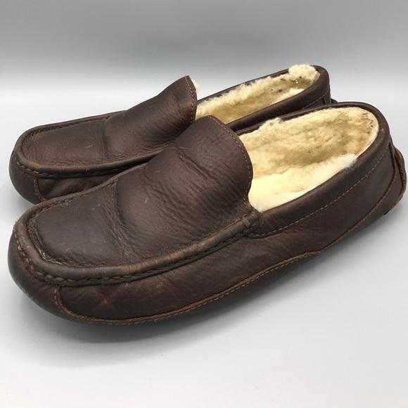 f83a5f65fc9 Ugg Australia Men s Ascot Leather Slipper Moc 10. M 59aaa7f256b2d6fc1d003d9a