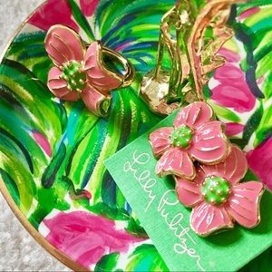 Brand New! Lilly Pulitzer Enamel Earrings + Ring