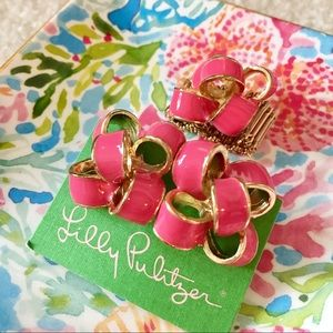 Lilly Pulitzer Bow Earrings + Stretch Bow Ring
