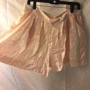 Club Monaco Pleated Pink Shorts