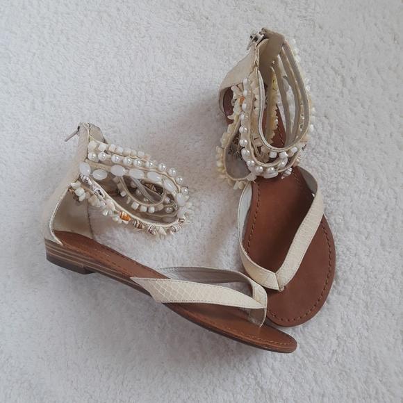 83ababac4710c7 Zigi Soho white jewelled shell sandals. M_59aabd1178b31c0f51008dd5