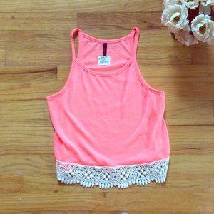 NWT neon pink crop top