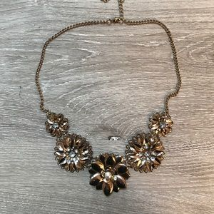 Gold-colored Floral Necklace