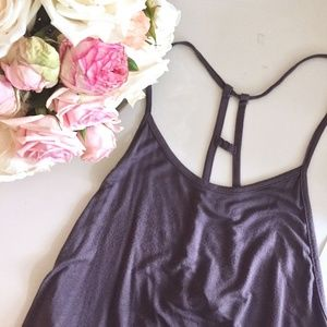 Lulu's flowy tank with cage back
