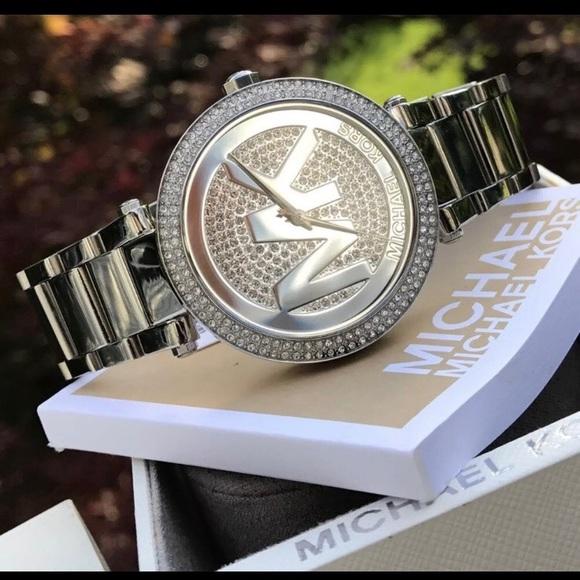 b0912f039f80 New  275 Michael Kors Parker MK Glitz Watch MK5925