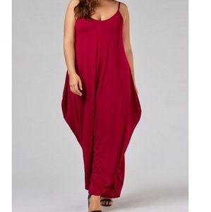 Pants - PLUS red jumpsuit