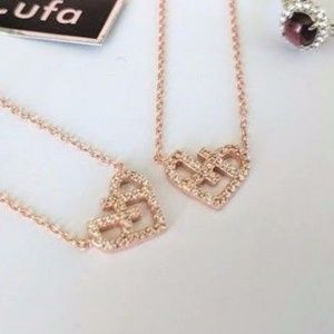 Jewelry - Solid 925 Silver Rose Gold Embrace Your Heart Neck