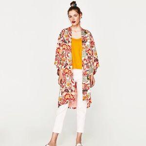 Zara printed kimono style jacket. New with tags