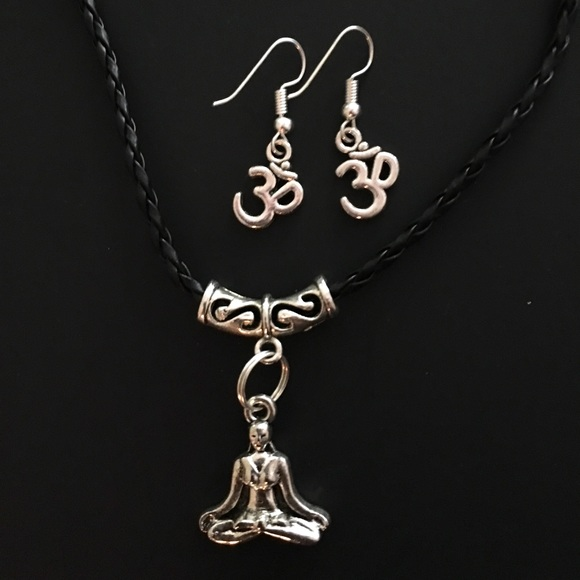 Jewelry Yogini Meditation Necklace With Om Symbol Earrings Poshmark