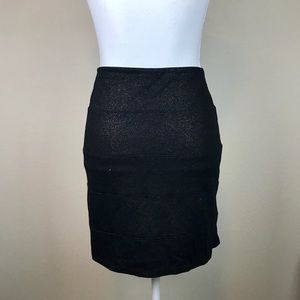 Rock & Republic gold black shimmer bodycon skirt M