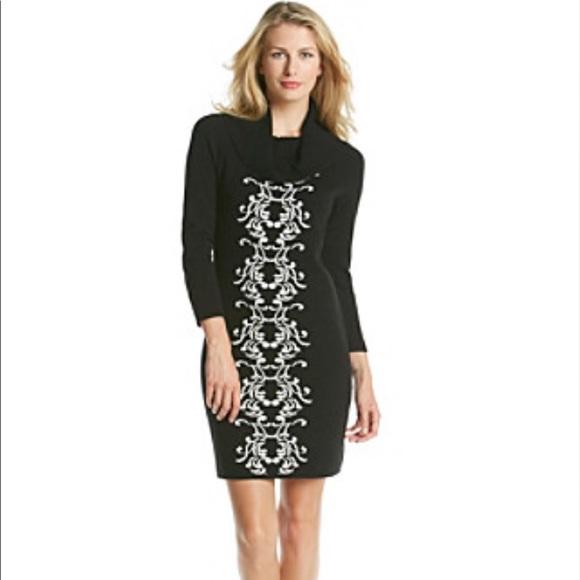 de8eb339e38bf Sandra Darren Sweater Dress Cowl Neck
