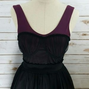 Ballerina inspired dress with bustier bodice