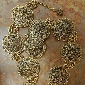 """1985"" Vintage Chanel Medallion Coin Chain Belt"