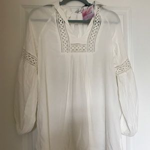 Tops - White Tunic Size XS/S New with tags