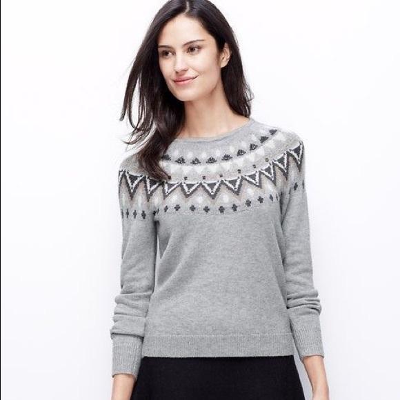 55% off Ann Taylor Sweaters - Ann Taylor Fair Isle Embellished ...