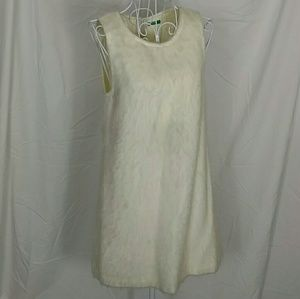 Vintage Benetton fuzzy off white gogo dress xxs