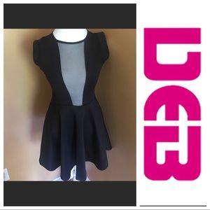 Deb black and mesh dress