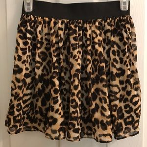 Animal print Forever 21 skirt