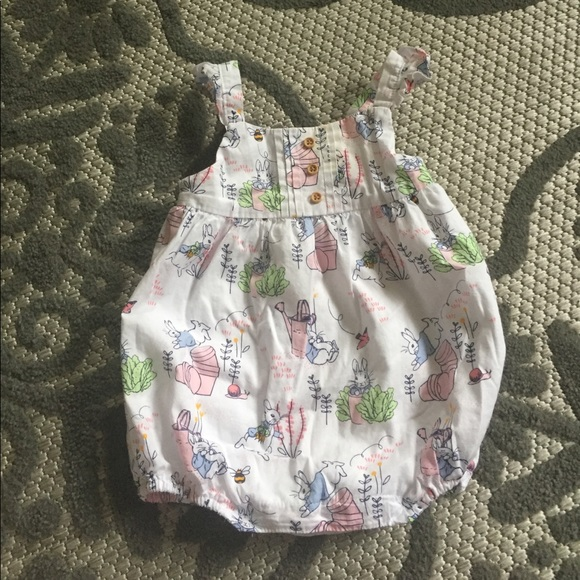 8cd1e64b4130 Gymboree Other - Gymboree baby 6-12 month romper peter rabbit girl
