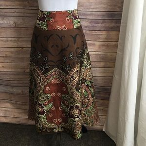 Coldwater Creek 100% Silk Lined Skirt Size PL