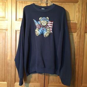Tops - American Flag 🇺🇸 🐻 Bear Sweatshirt
