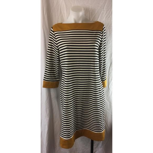 7a362e51a3a Isaac Mizrahi striped 3 4 sleeve knit shift dress