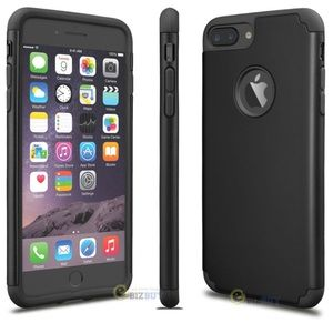 Black Double Layer Silicone Hard iPhone 6/6s Case