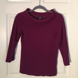 Rafaella sweater - plum color, size small