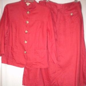 Cherokee Medium & 12 Skirt Top Two Piece Set