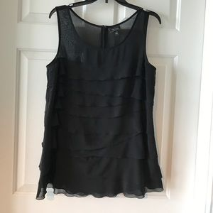 Black ruffle blouse from Nicole Miller size Large