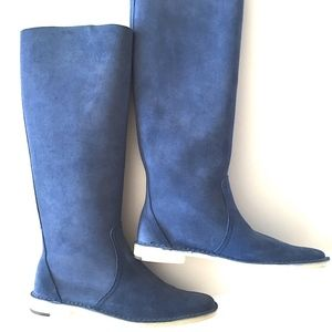Pierre Hardy Suede Flat Boots Size 36