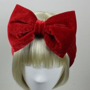 Accessories - Red Velvet head band headwarmer