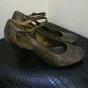 Sam & Libby Bronze Size 8.5 Bronze Mary Jane's