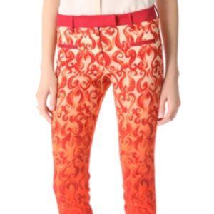 True Royal Printed Crop Pants Size 36