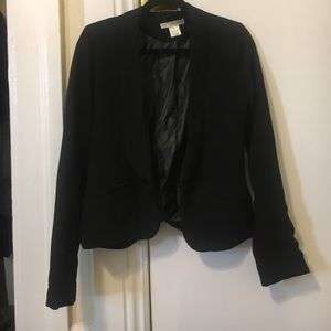 Say What? Black open front blazer