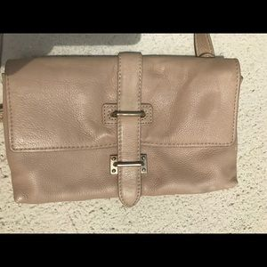 Foley + Corinna beige leather small cross body