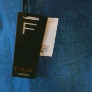 FYLO London Tops - NEW FYLO LONDON Blue Sleeveless Top Small S