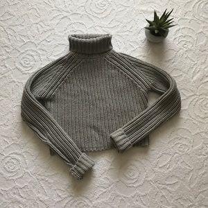 Alexander Wang Crop Turtleneck Sweater