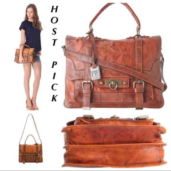 Frye Handbags - RARE Frye Cameron Satchel Camel Saddle 181476ebdbb2c