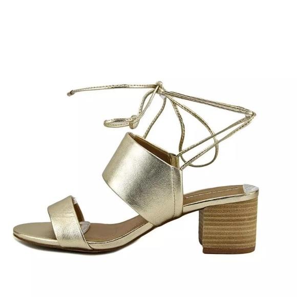 ae2df1a6ba Tahari Shoes   Platinum Doe Block Heel Lace Up Sandal   Poshmark