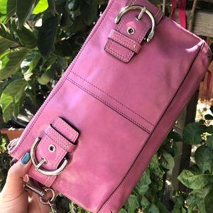 Authentic cute COACH leather shoulder bag