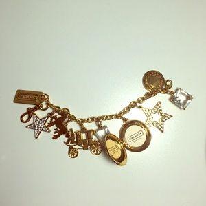 Coach charm bracelet like new!