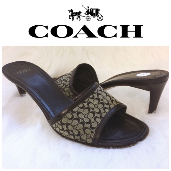 Coach Shoes - Coach Monogram Slide Pumps