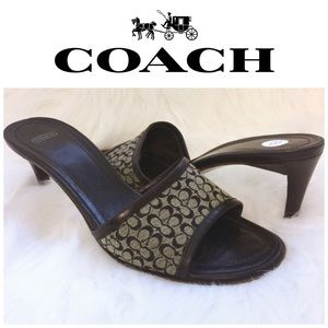 Coach Monogram Slide Pumps