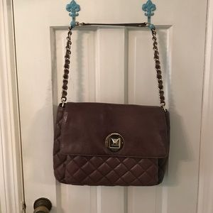 Kate Spade Quilted flap bag in gray
