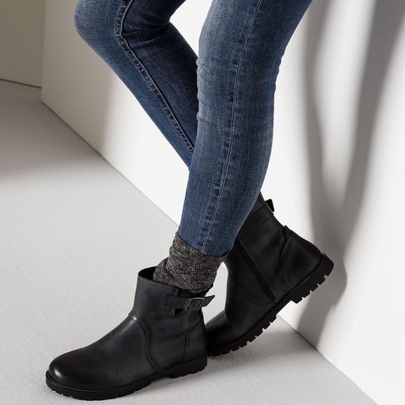 52d9054e9bb1 Birkenstock Stowe leather boot in black
